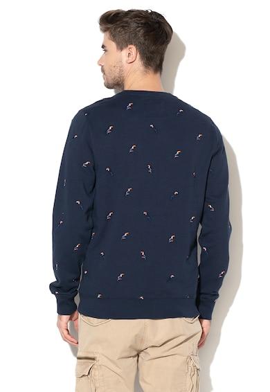 SUPERDRY Bluza sport cu decolteu la baza gatului si detalii brodate Barbati