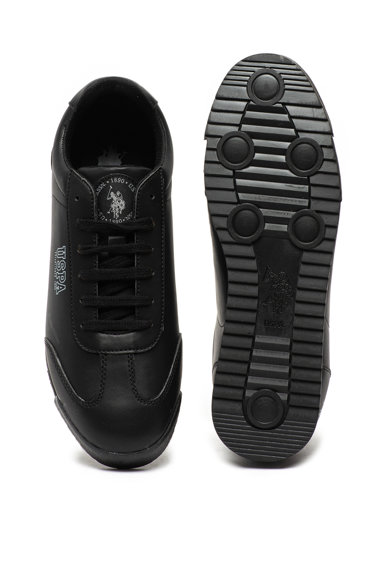 U.S. Polo Assn. Pantofi sport de piele ecologica, cu logo Deep Barbati