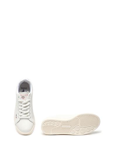 U.S. Polo Assn. Pantofi sport de piele ecologica, cu detaliu logo stantat Franco Femei