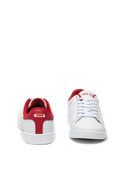 U.S. Polo Assn. Pantofi sport de piele ecologica, cu broderie logo Steve Femei