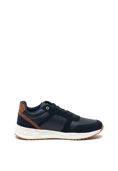 U.S. Polo Assn. Pantofi sport de piele ecologica, cu garnituri de piele intoarsa ecologica Norman Barbati