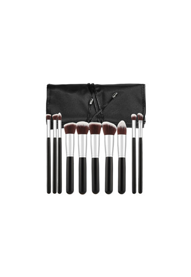 Tools4beauty Set 10 pensule  negru&argintiu, cu husa Femei