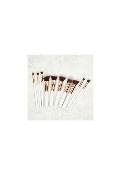 Tools4beauty Set 10 pensule  bej, cu husa Femei
