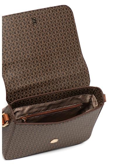 U.S. Polo Assn. Geanta de piele ecologica cu bareta de umar si logo metalic Femei
