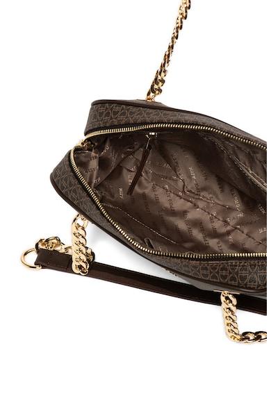 U.S. Polo Assn. Geanta de piele ecologica, cu bareta de umar si model monograma Femei