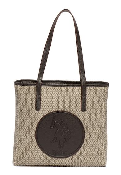 U.S. Polo Assn. Шопинг чанта от еко кожа с лого Жени