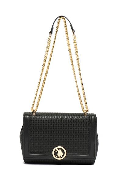 U.S. Polo Assn. Чанта за рамо от еко кожа с шарка с монограм Жени