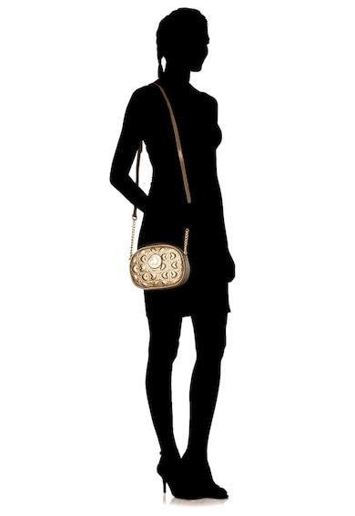 U.S. Polo Assn. Geanta crossbody de piele ecologica cu imprimeu monograma cu cusaturi Femei