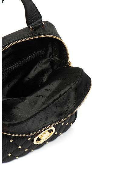 U.S. Polo Assn. Rucsac convertibil cu aspect texturat si detalii cu tinte Femei