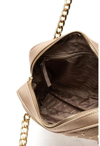 U.S. Polo Assn. Geanta de piele ecologica cu bareta de umar si aplicatii de tinte Femei