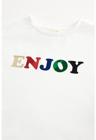 Mango Bluza sport cu imprimeu text metalizat Party Fete
