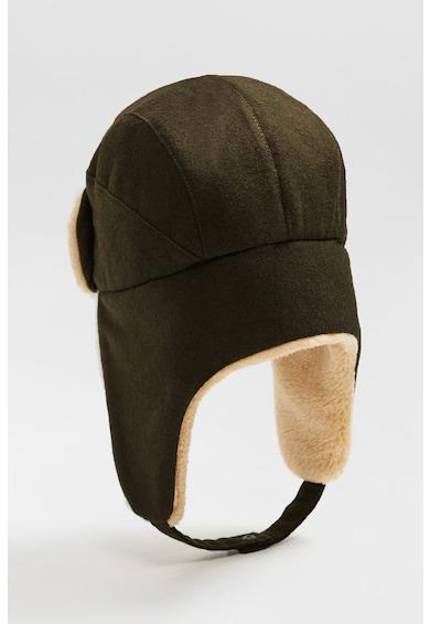 Mango Caciula trapper din amestec de lana, cu clapa pentru urechi Esquimal Baieti