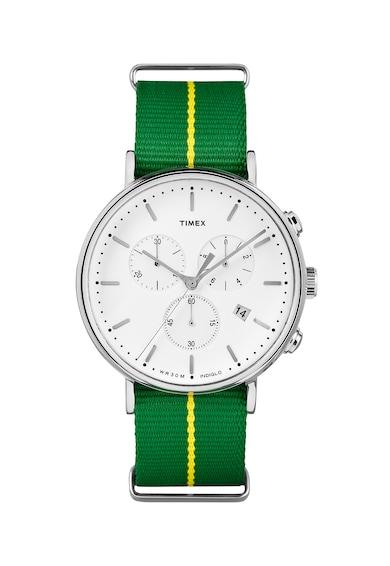 Timex Ceas cronograf cu o curea din material textil Barbati