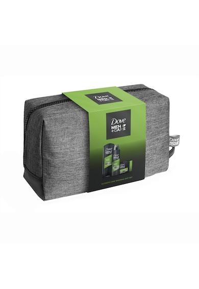 Dove Men Set Cadou +Care Extra Fresh: Gel de dus, 250ml + Deodorant spray, 150ml + Sapun, 90gr + Geanta Femei