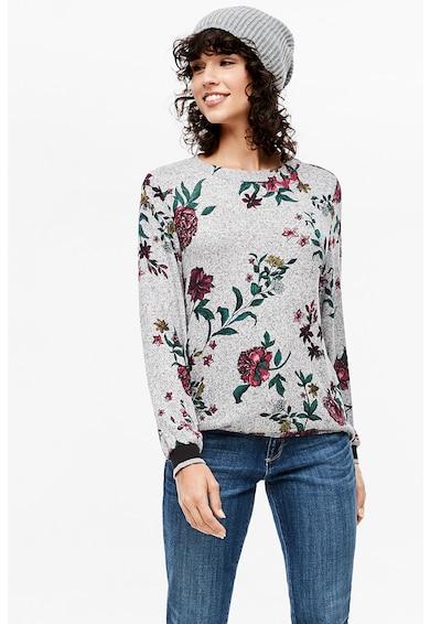s.Oliver Bluza din tricot fin cu model floral Femei