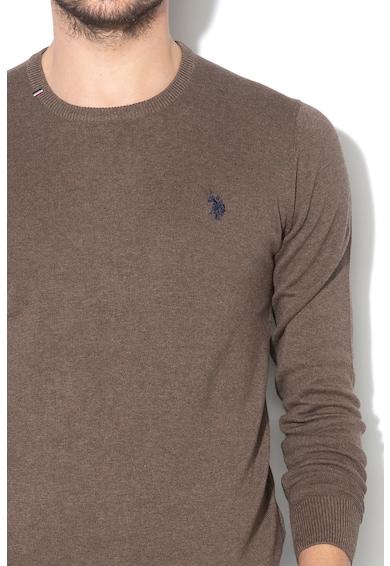 U.S. Polo Assn. Pulover din tricot fin cu broderie logo Robin Barbati