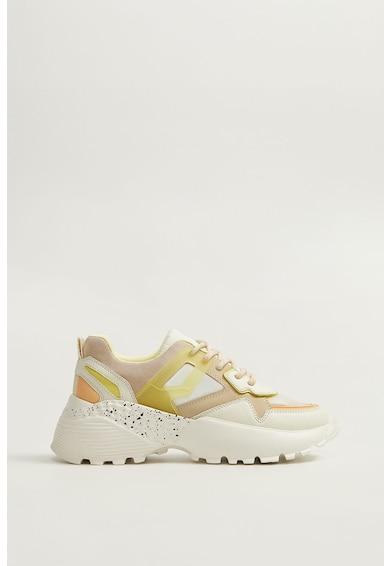 Mango Pantofi sport cu garnituri de piele ecologica Damon Femei