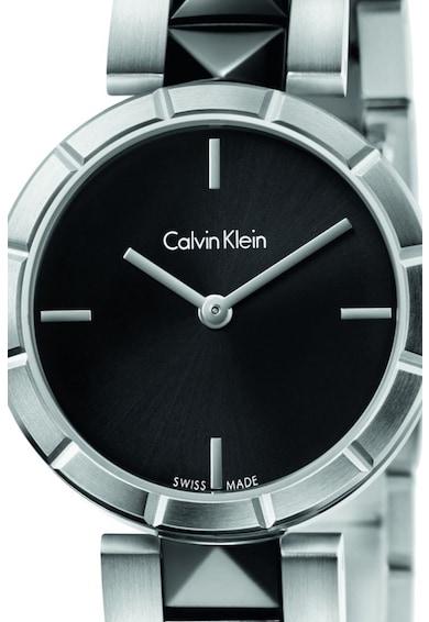 Calvin Klein Ceas rotund cu bratara cu tinte Femei