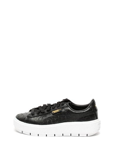 Puma Кожени спортни обувки Trace с релефна повърхност Жени