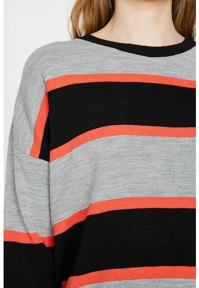 KOTON Pulover din tricot fin cu model in dungi Femei