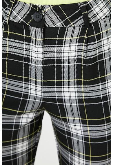 KOTON Pantaloni cu talie inalta si carouri Femei
