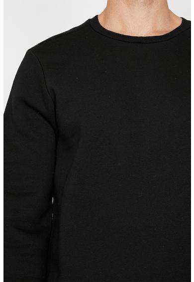 KOTON Bluza sport din amestec de bumbac, cu decolteu la baza gatului Barbati