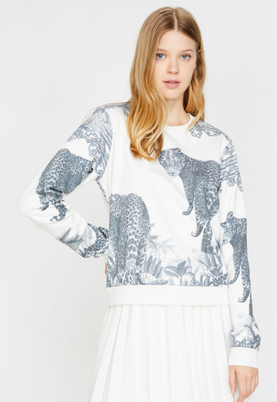 KOTON Bluza sport cu animal print Femei