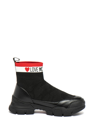 Love Moschino Pantofi sport slip-on tricotati Femei
