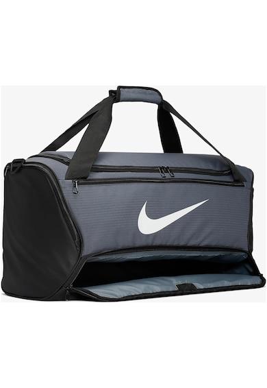 Nike Geanta duffel  Brasilia M 9.0, 60 L, Flint Grey/Black/White Femei