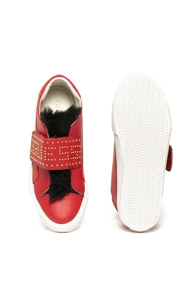 Guess Pantofi sport de piele ecologica cu partea superioara de blana sintetica Fete