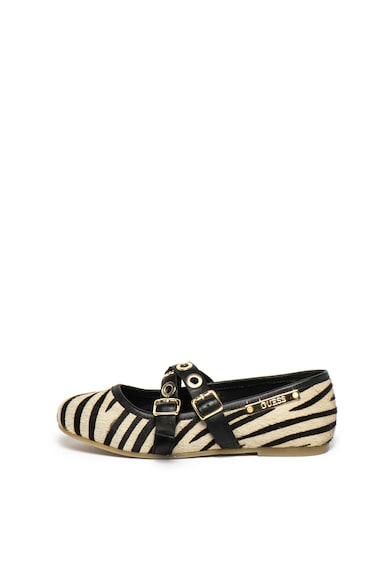 Guess Balerini din piele cu par scurt si imprimeu zebra Fete