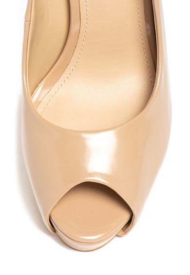 Guess Pantofi de piele ecologica, cu varf decupat Femei