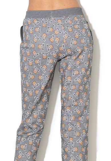 Moschino Pantaloni de pijama cu imprimeu logo Femei