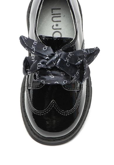Liu Jo Pantofi brogue de piele ecologica, cu aspect lacuit Pat Fete