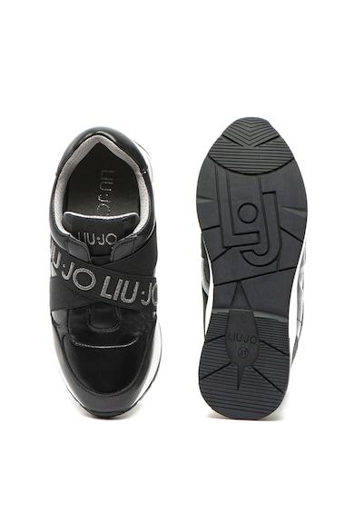 Liu Jo Pantofi sport slip-on de piele ecologica, cu insertii stralucitoare Karlie Fete