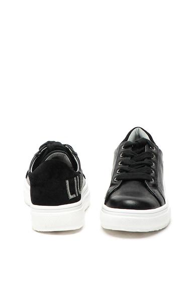 Liu Jo Pantofi sport de piele ecologica, cu imprimeu logo Sarah Fete