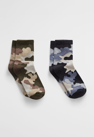 Mango Дълги чорапи с камуфлажна шарка - 2 чифта Момчета