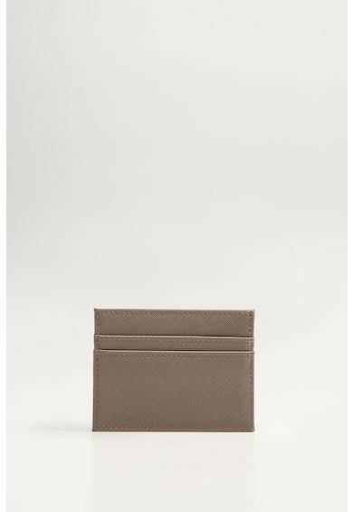 Mango Калъф за карти от еко кожа Сафиано Мъже