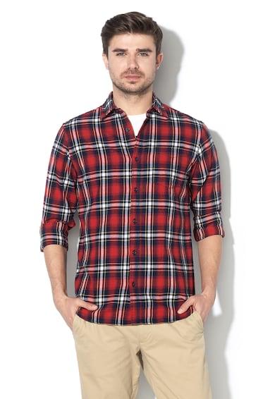 Jack&Jones Карирана риза Brook с джоб отрпед Мъже