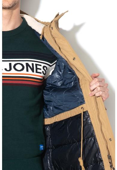 Jack&Jones Jacheta parka cu gluga cu captuseala din material teddy Wetford Barbati