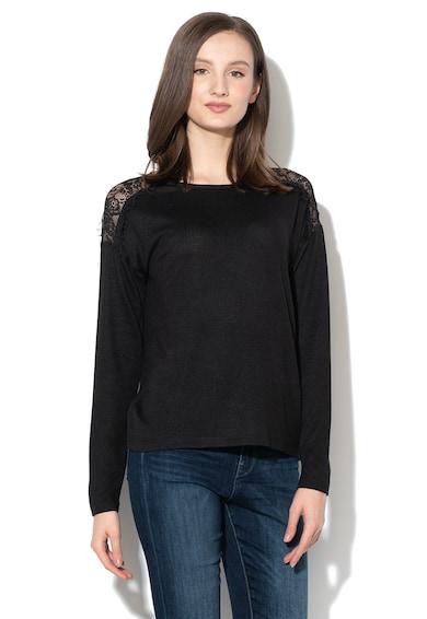 Vero Moda Bluza din tricot fin cu insertii de dantela Malena Femei