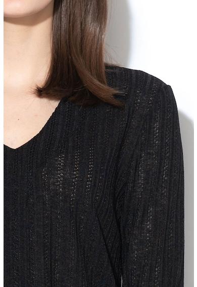 JdY Bluza cu aspect transparent si maneci 3/4 Chai Femei