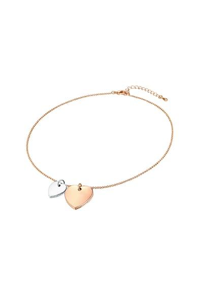 Highstreet Jewels Colier cu pandantive in forma de inima Femei