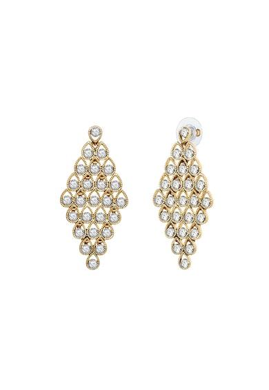 Highstreet Jewels Cercei placati cu aur, cu cristale Femei