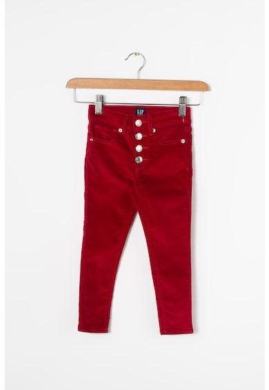 GAP Pants, Pantaloni de catifea, cu talie inalta Fete
