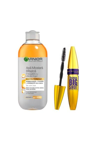 Maybelline NY Pachet promo: Mascara Maybelline New York Volum' Express The Colossal Big Shot Black 9.5 ml, Apa micelara Bifazica Garnier Skin Naturals, 400 ml Femei