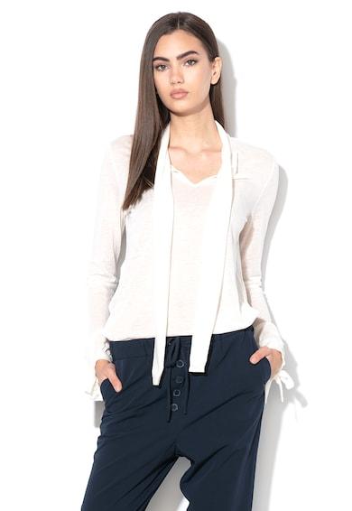 Stefanel Bluza de lana si lyocell, cu aspect transparent Femei