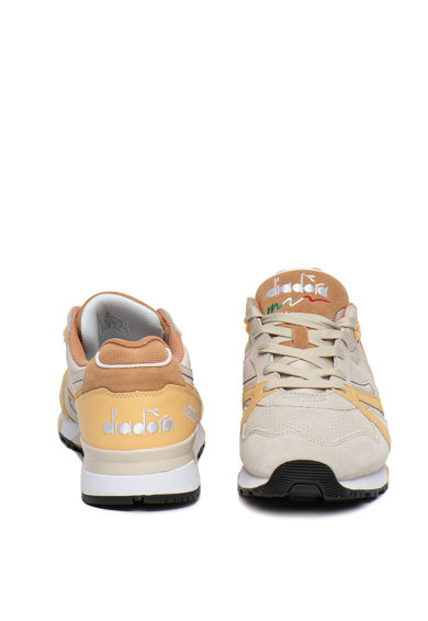 Diadora Pantofi sport cu insertii din piele si piele intoarsa N9000 Double Barbati