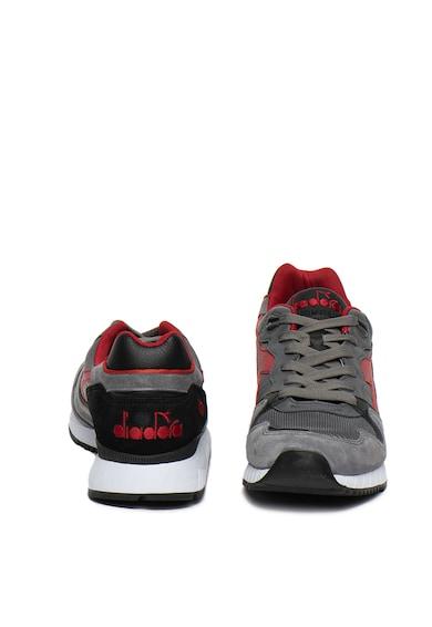 Diadora Pantofi sport din piele si piele intoarsa V7000 Italia Barbati