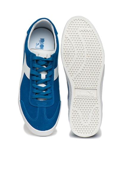 Diadora Pantofi sport unisex din piele intoarsa, cu insertii din piele ecologica B. Original VLZM Barbati